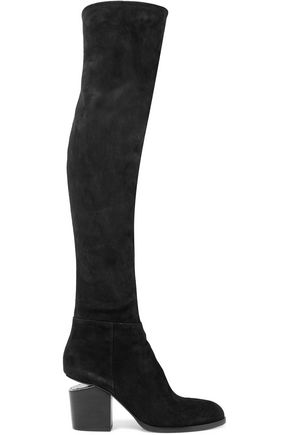 ALEXANDER WANG Suede thigh boots