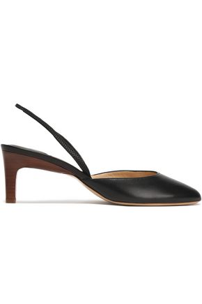 PAUL ANDREW Leather slingback pumps