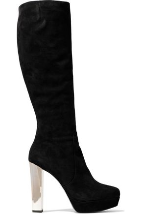 ALICE + OLIVIA Suede knee boots