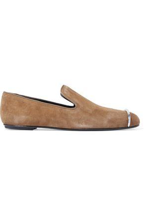 ALEXANDER WANG Kallie embellished suede slippers