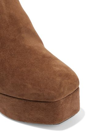 ALEXANDER WANG Cora suede platform ankle boots