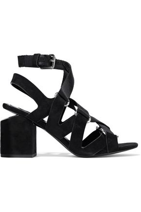ALEXANDER WANG Rachel woven and suede sandals