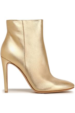 GIANVITO ROSSI Metallic leather ankle boots