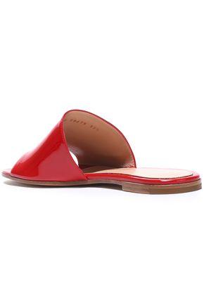 GIANVITO ROSSI Capri patent-leather slides