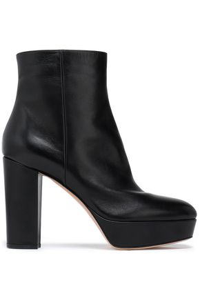 GIANVITO ROSSI Glossed-leather platform ankle boots