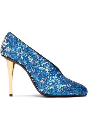 LANVIN Sequined woven pumps