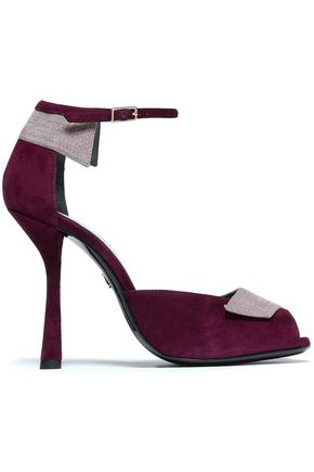 LANVIN Two-tone suede sandals