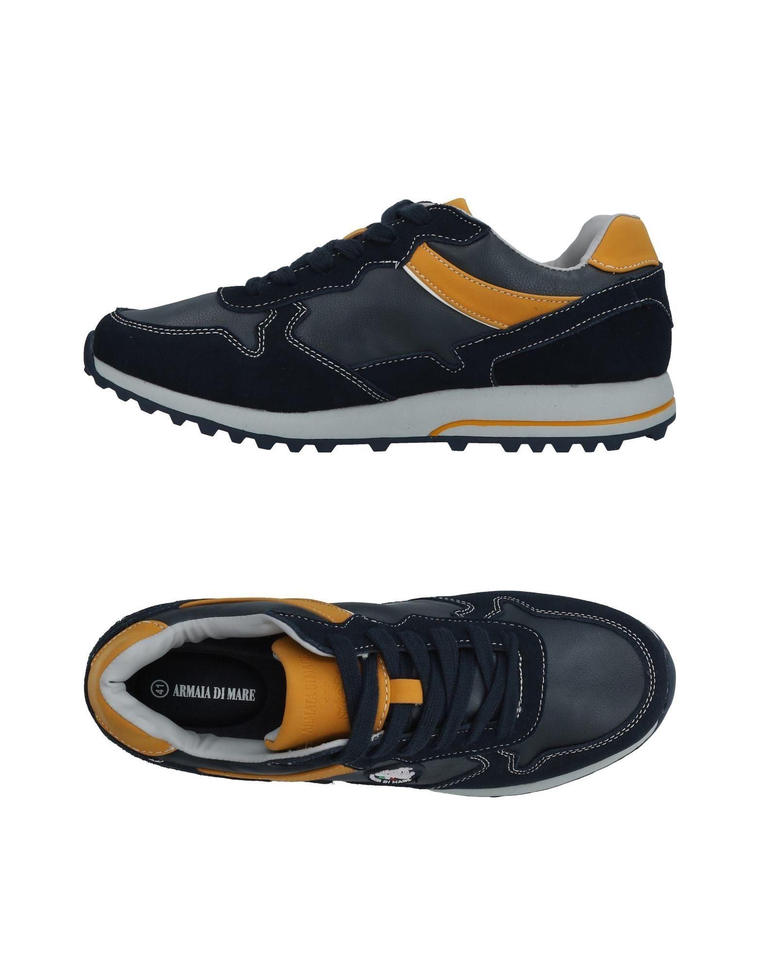《送料無料》ARMATA DI MARE メンズ スニーカー&テニスシューズ(ローカット) ダークブルー 40 革 / 紡績繊維