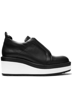 PIERRE HARDY Leather platform slip-on sneakers
