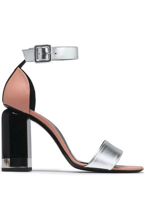 metallic-leather-sandals by pierre-hardy