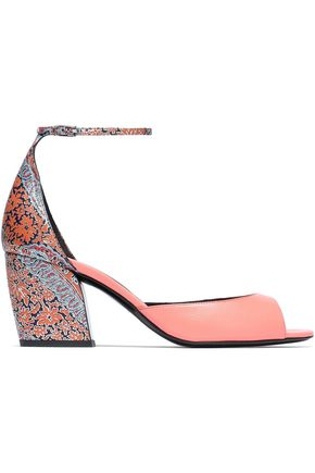 PIERRE HARDY Printed and metallic leather sandals
