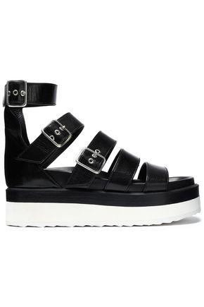 PIERRE HARDY Buckled leather platform sandals
