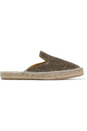 MANEBÍ Glittered canvas espadrille slippers