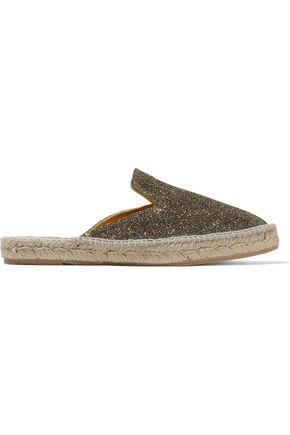 MANEBÍ Glittered canvas espadrille slippers