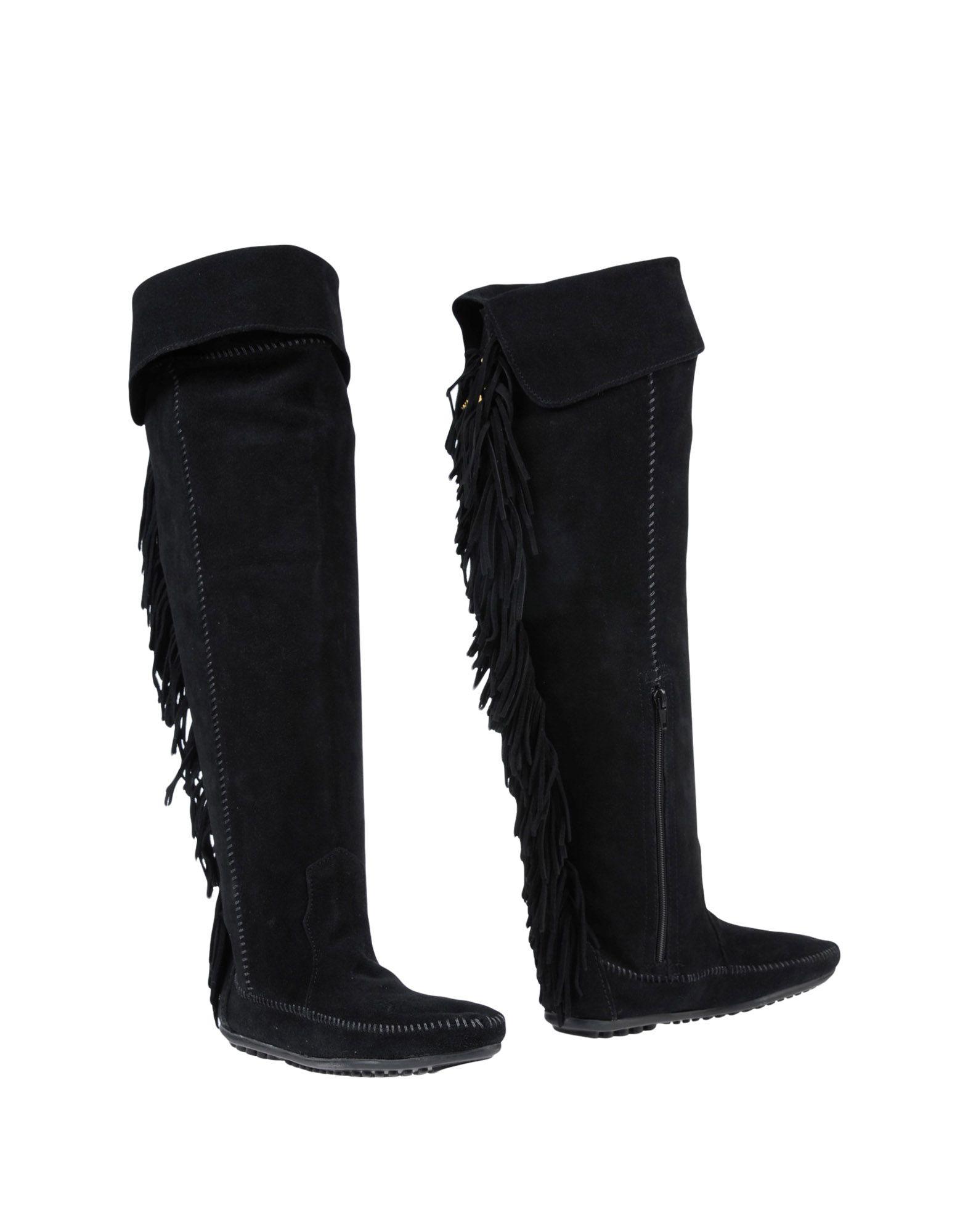 MINNETONKA x MAJE Сапоги искусственный газон eternal angel minnetonka womens classic fringe boot hardsole brown suede