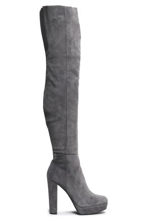 Suede Over The Knee Boots by Alice + Olivia