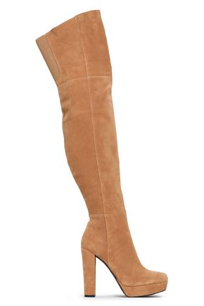ALICE + OLIVIA JEANS Suede over-the-knee boots