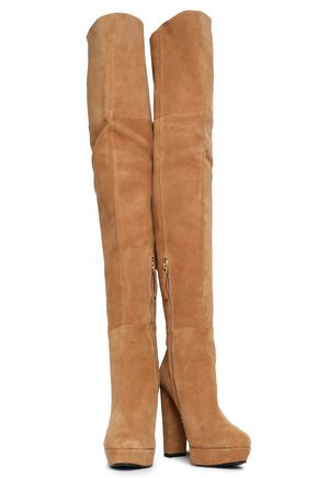 32afdeceb87 ALICE + OLIVIA Suede over-the-knee boots
