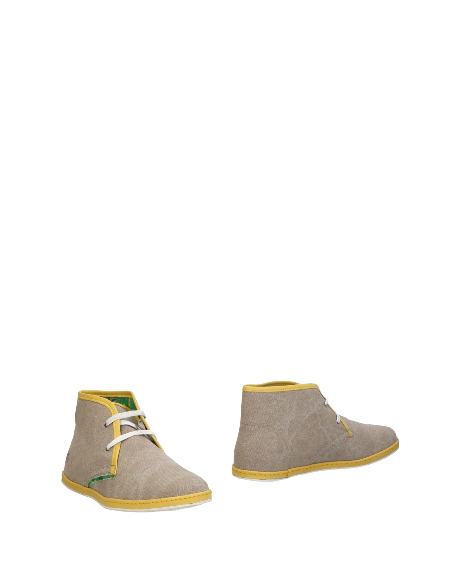 《送料無料》LE CROWN メンズ ショートブーツ サンド 40 紡績繊維 / 革