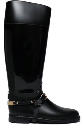 JIMMY CHOO Cheshire buckled PVC boots