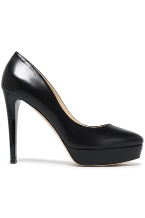 JIMMY CHOO Leather platform pumps