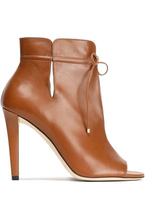 JIMMY CHOO Cutout leather ankle boots