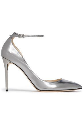 JIMMY CHOO Lucy mirrored-leather pumps