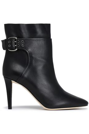 JIMMY CHOO Major buckled leather ankle boots