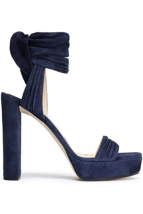 JIMMY CHOO Kaytrin ruched suede sandals