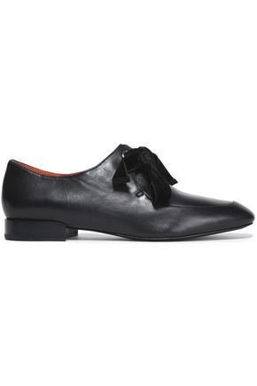 3.1 PHILLIP LIM Velvet-trimmed leather brogues