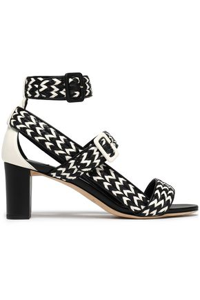JIMMY CHOO Maya two-tone woven leather sandals