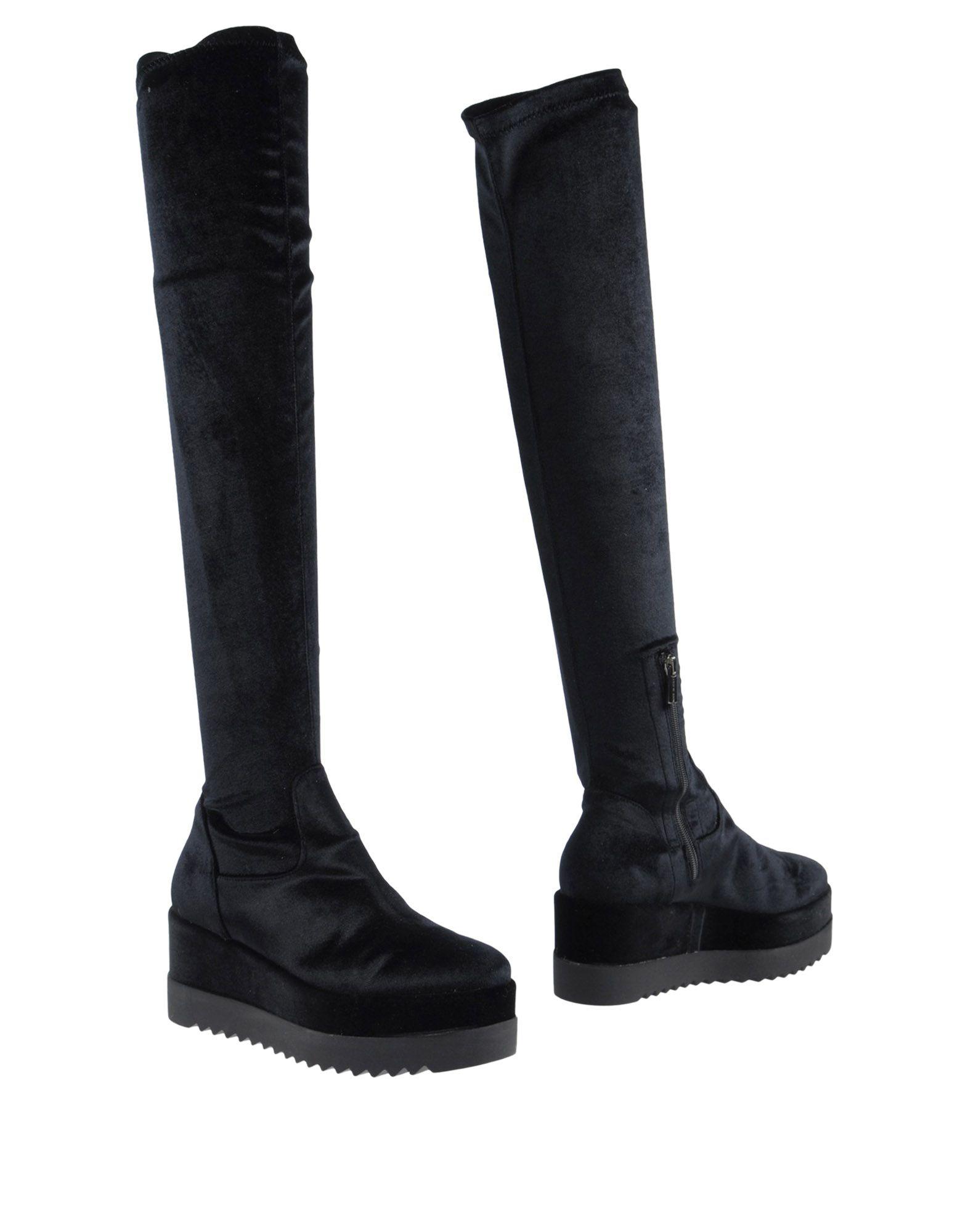 SPAZIOMODA Сапоги exull женские ботфорты сапоги вышеколена с толстым и низким каблуком