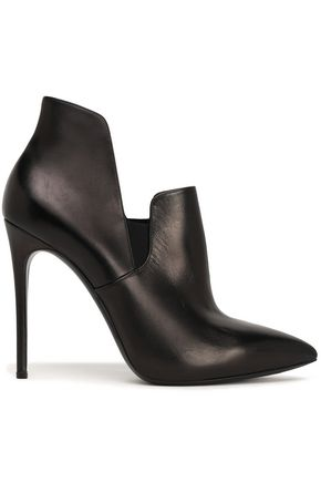 CASADEI Metallic leather ankle boots