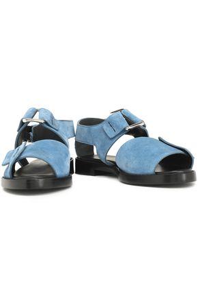 3.1 Phillip Lim Woman Louie Twisted Velvet-trimmed Satin Slippers Black Size 40.5 3.1 Phillip Lim kEB9nV6wD