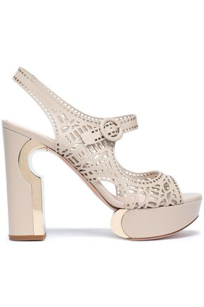 NICHOLAS KIRKWOOD Laser-cut platform sandals