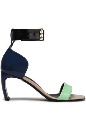NICHOLAS KIRKWOOD Studded color-block patent-leather sandals