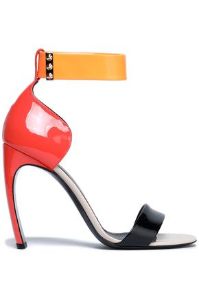 NICHOLAS KIRKWOOD Studded color-block patent-leather sandals