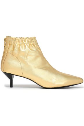 3.1 PHILLIP LIM Blitz metallic leather ankle boots