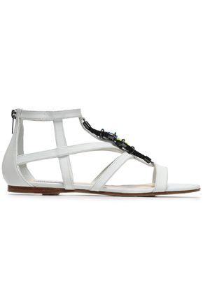 JIMMY CHOO Embellished leather sandals