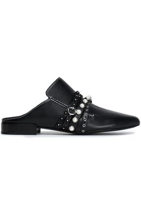 3.1 PHILLIP LIM Louie embellished leather slippers