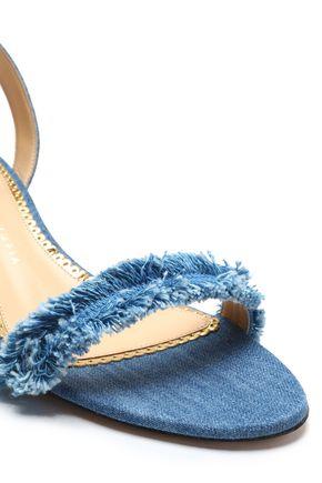 2e4be4d8e0d107 ... CHARLOTTE OLYMPIA Tara frayed denim sandals ...