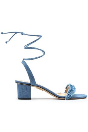 CHARLOTTE OLYMPIA Tara frayed denim sandals