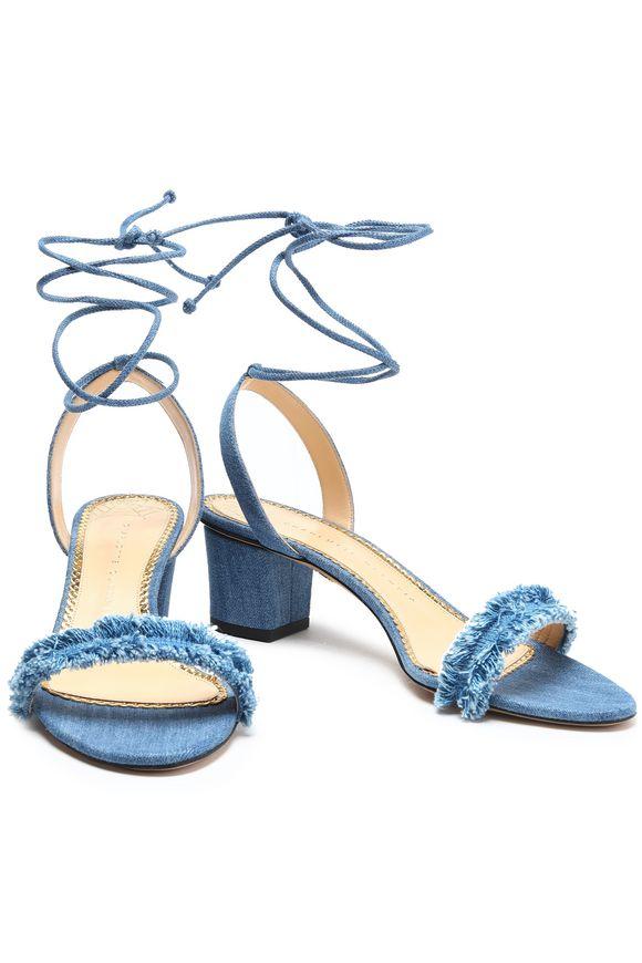 753e00a107e88e Tara frayed denim sandals