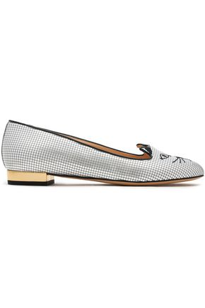CHARLOTTE OLYMPIA Metallic embellished loafers