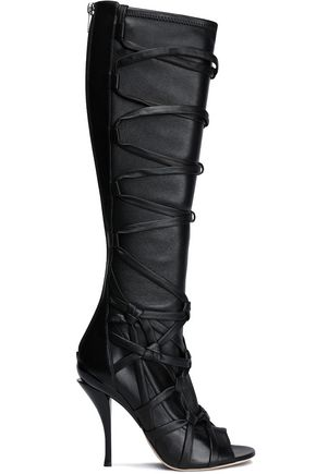 JIMMY CHOO Lace up leather boots