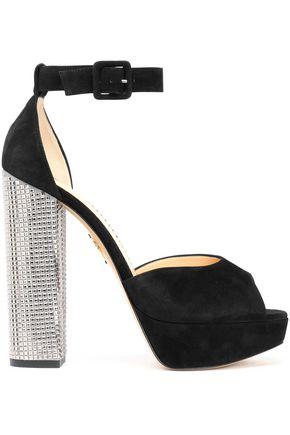 CHARLOTTE OLYMPIA Eugenie embellished suede platform sandals