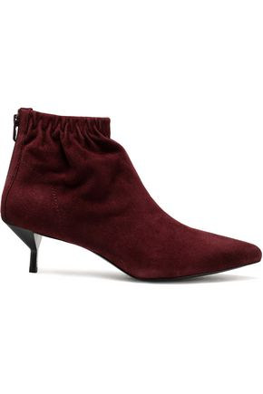 3.1 PHILLIP LIM Blitz ruched suede ankle boots