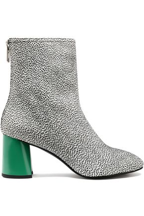 3.1 PHILLIP LIM Drum printed leather ankle boots
