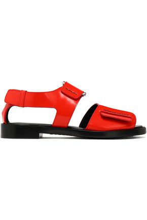 3.1 PHILLIP LIM Addis buckled glossed-leather sandals