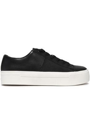 DKNY Leather platform sneakers